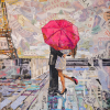 """Paris is always a good idea"" • Collage on canvas (b) diptych • 32"" x 46"" (For Sale - please contact studio for quote)"