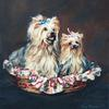 """Two Terriers"" • oil on linen • 16"" x 20"" (Sold)"